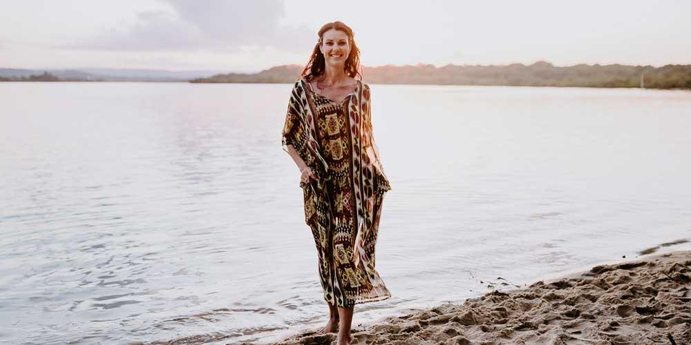 Clothing For Hourglass Figure, Heart Reef Long Kaftan Dress, Laloom Kaftans