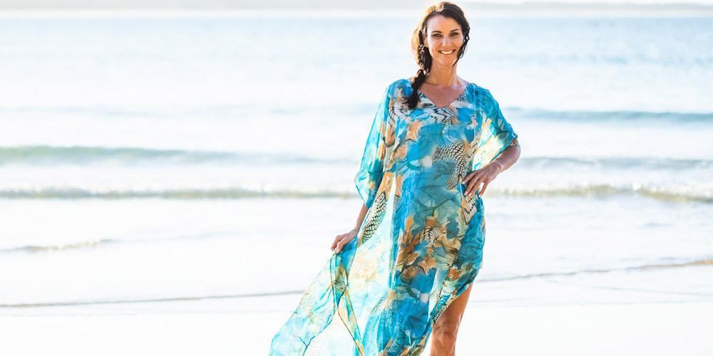How To Dress For  Formal Occasion, Kekaha Beach Long Kaftan Dress, Laloom Kaftans
