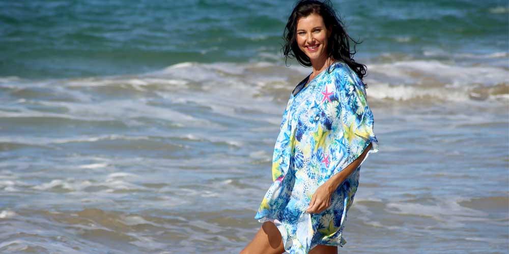 Wearing Kaftans To Feel Great, Sea Star Short Kaftan, Laloom Kaftans