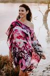 Dreamtime Beach silk short kaftan dress