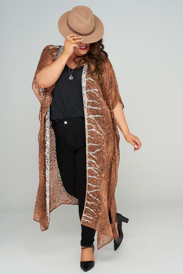 Electra Long Silk Kimono, Laloom Kaftans