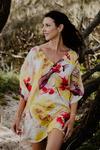 Kandolhu Island pure silk short kaftan dress