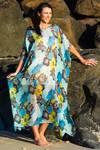 Kua Bay Silk Kaftan Dress