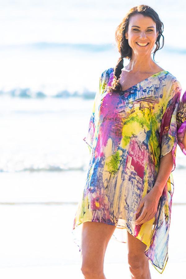 Oahu Silk Kaftan Dress, Laloom Kaftans
