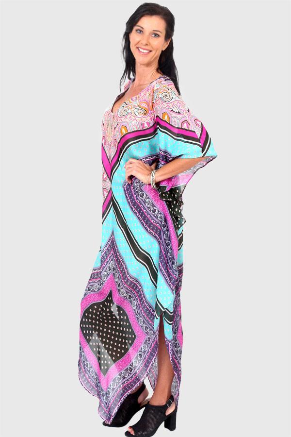 Strike A Pose Long Kaftan Dress