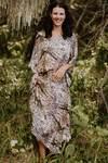 The Bedarra pure silk long kaftan dress