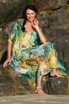 Waikiki Beach Kaftan In Silk, Laloom Kaftans