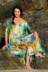Waikiki Beach Silk Kaftan Dress, Laloom Kaftans