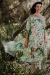 Whitehaven chiffon long kaftan dress